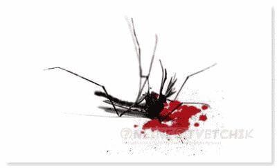 Умирает комар