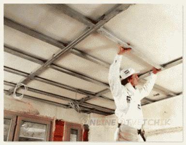 Установить потолок дома