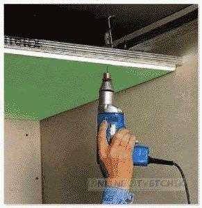 Приврепить полоток с гипсокартонна