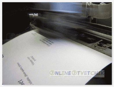 Печать принтера белая