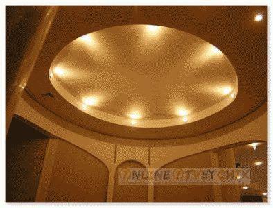 Потолок с гипсокартонна