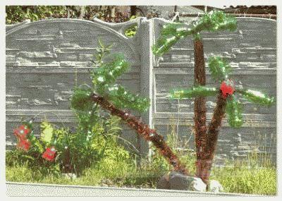 Сделать пальмы для детской площадки