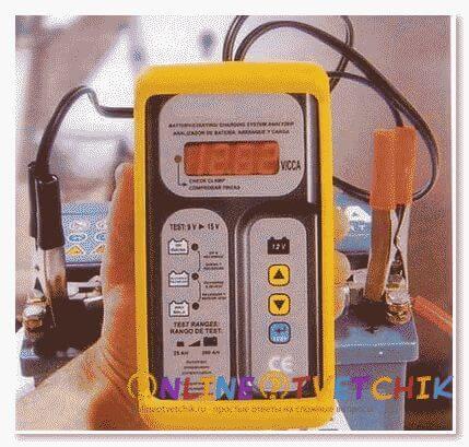Показатели аккумулятора при зарядке