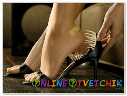 Неправильная обувь, как причина мозолей