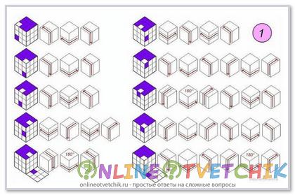 Собрать кубик рубик по инструкции