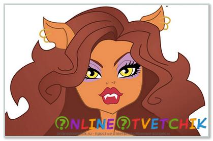 Как нарисовать волосы кукле монстр