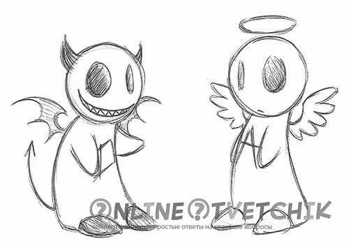 рисуем мультяшного ангела