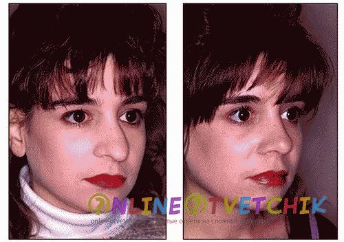 Коррекция носа макияжем-видео