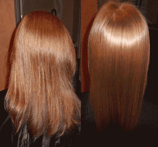 Желатиновая маска для волос: до и после