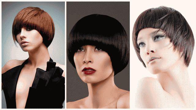 Стрижки с челкой на средние волосы