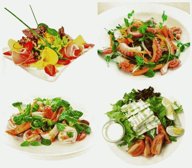 салатики простые и вкусные на день