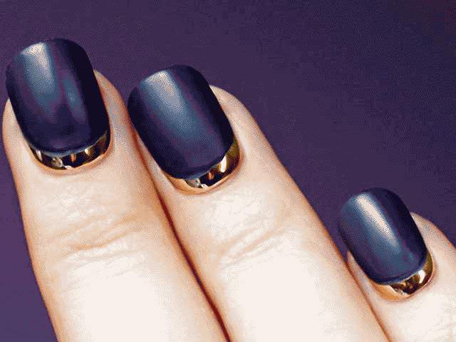 Лунный маникюр на короткие ногти: фото