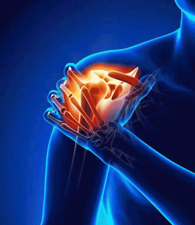 Боль в плече вызывают физические нагрузки
