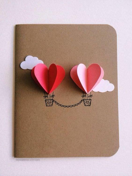 fd7c9ccb684596928555755025bd368c Поделка — валентинка своими руками из бумаги, ткани: шаблоны, выкроки. Как сделать красивую валентинку своими руками маме, парню, в школу?